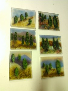 Complete cypress trees from Images in Glass Complete cypress trees from Images in Glass