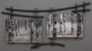 Veiled Aspen glass artwork by ROger V Thomas