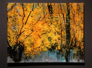 Paintbrush Fall glass artwork by Roger V Thomas