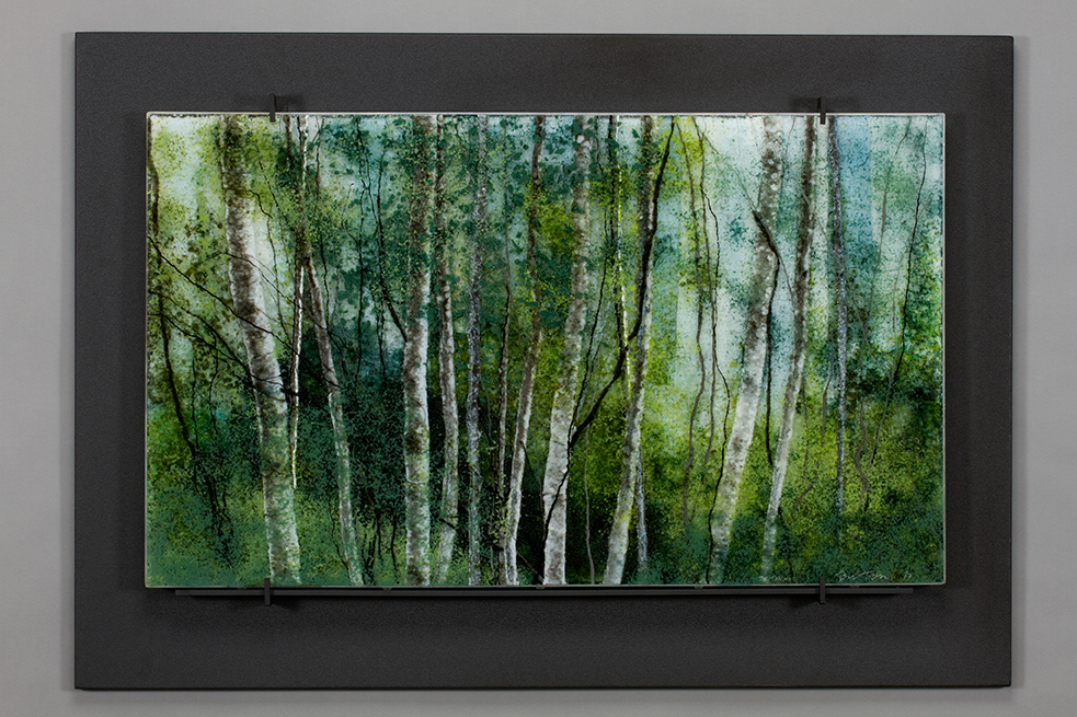 The THicket glass artwork by Roger V Thomas