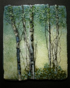Mossy Stand glass artwork by Roger V Thomas