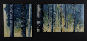 Opus 571 Wasatch Poplar glass artwork by Roger V Thomas