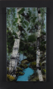 Opus 588 Open Water fused glass artwork by Roger Thomas