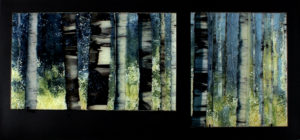 Opus 590 Towards the Light fused glass artwork by Roger Thomas