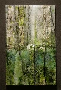 Marble Kodama glass artwork by Roger V Thomas