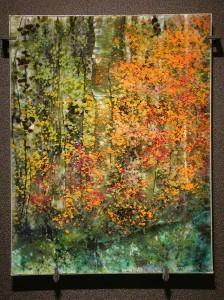 Oneonta Fall glass artwork by Roger V THomas