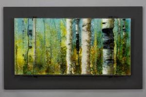 Sunlit Passage glass artwork by Roger V Thomas
