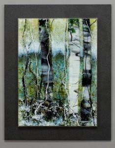 Glacial Melt Grotto glass artwork by Roger V Thomas
