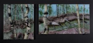Opus 592 Granite Flow fused glass artwork by Roger Thomas